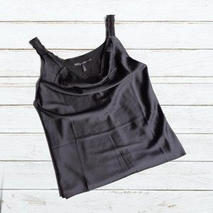 WHBM Black/Lace Trim Camisole Style Top